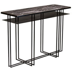 Steel Handcrafted Console Signed by Novocastrian