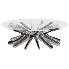 Steel in Rotation No.1 Coffee Tables I Polished Stainless Steel Coffee Table