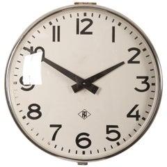 Steel Industrial, Factory, Workshop Wall Clock