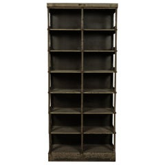 Steel Industrial Shelf Manufactured by Strafor, France, circa 1930