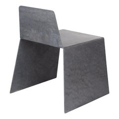 Steel Side Chair in Hot-Dipped Galvanized Steel by Jonathan Nesci