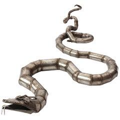 Steel Snake Sculpture