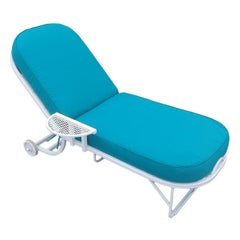Steel Spring Outdoor / Patio Chaise Lounge by Woodard