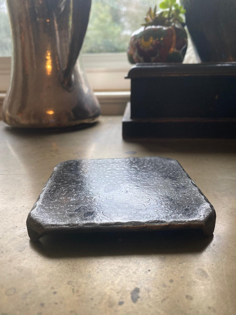 American Steel Square Coaster with Forged Legs For Sale