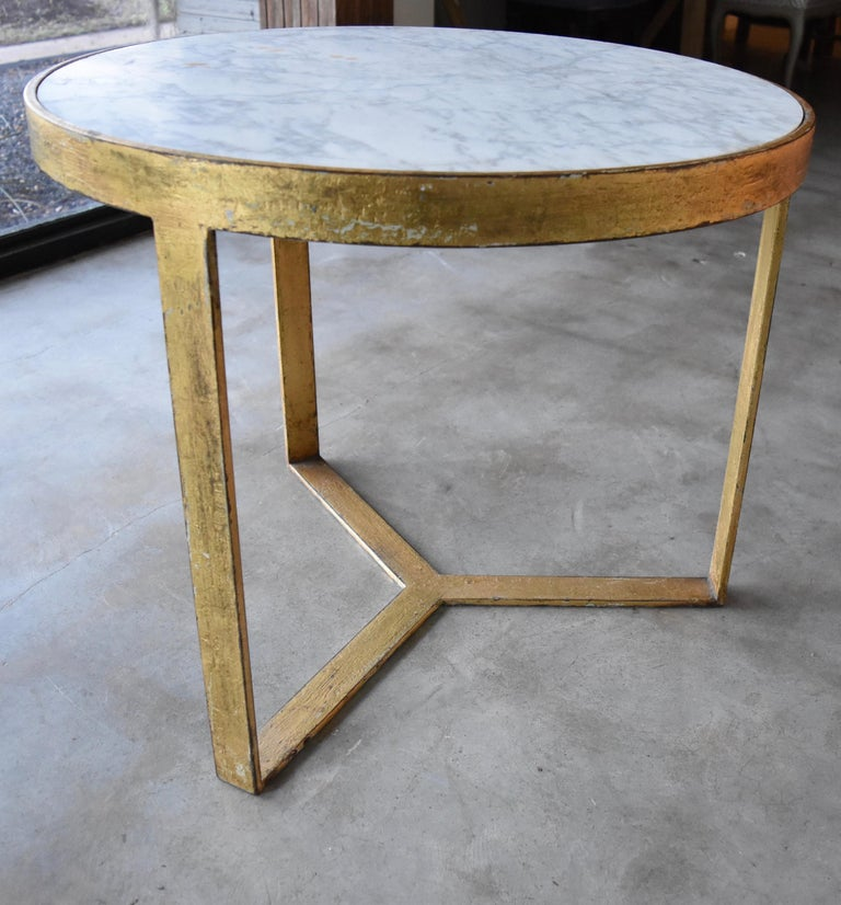 l have always loved handmade furniture. This is my little side table that we had made out of steel and gilt overlay. We find old marble and have it inset as the top. It's a very heavy solid table not easy to pick up alone. I wanted very well made