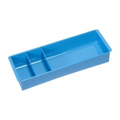 Steel Tanker Drawer Insert Repurposed as Organizer, Refinished in Bright Blue