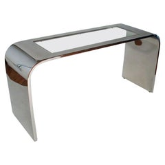 Steel Waterfall Console Table by Stanley Jay Friedman for Brueton