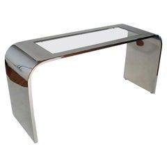 Steel Waterfall Console Table by Stanley Jay Friedman for Brueton