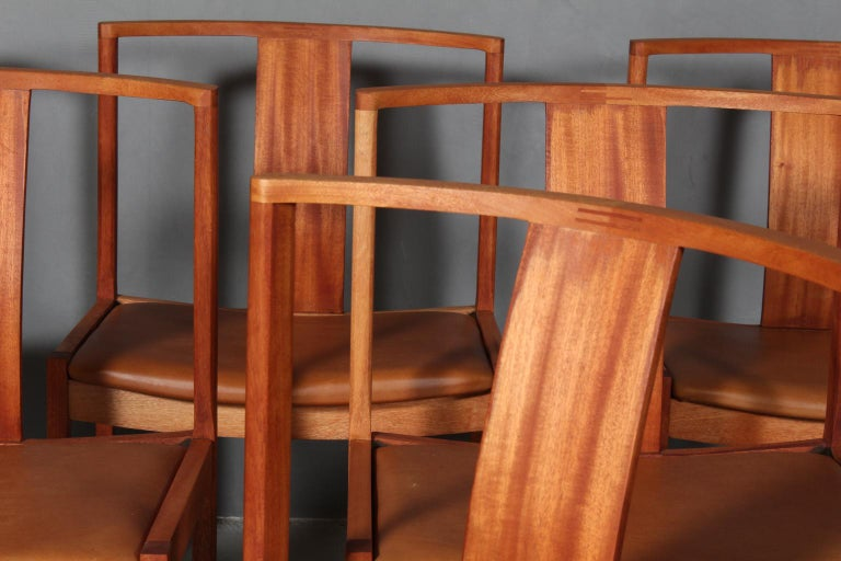 Scandinavian Modern Steen Eiler Rasmussen Set of Six Dining Chairs