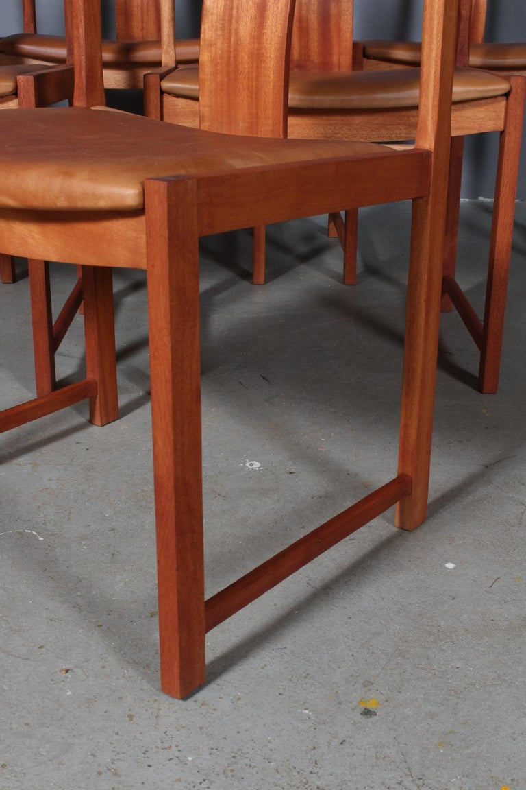Steen Eiler Rasmussen Set of Six Dining Chairs In Excellent Condition In Esbjerg, DK