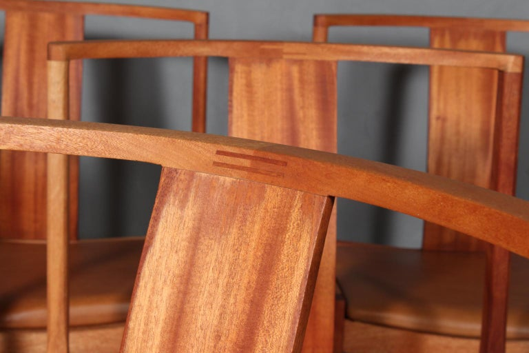 Mid-20th Century Steen Eiler Rasmussen Set of Six Dining Chairs