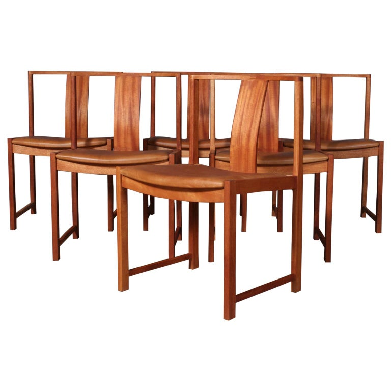 Steen Eiler Rasmussen Set of Six Dining Chairs