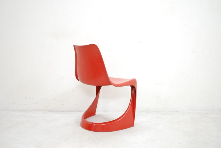 Steen Ostergaard Model 290 Pair of Red Chair for Cado, 1970 For Sale 3