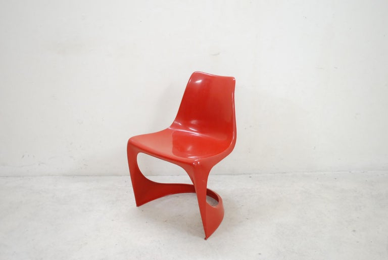 Danish Steen Ostergaard Model 290 Pair of Red Chair for Cado, 1970 For Sale
