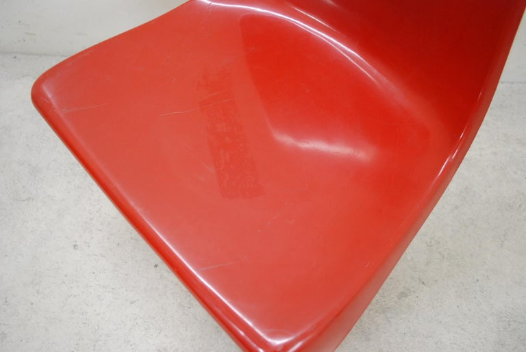 Steen Ostergaard Model 290 Pair of Red Chair for Cado, 1970 In Fair Condition For Sale In Munich, Bavaria