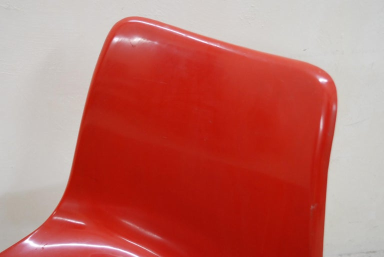 Mid-20th Century Steen Ostergaard Model 290 Pair of Red Chair for Cado, 1970 For Sale
