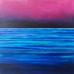 Serene dusk, Painting, Acrylic on Canvas
