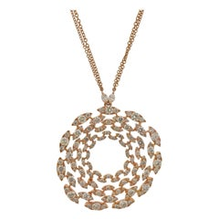 Stefan Hafner 11.68 Carat Diamond Rose Gold Pendant Necklace