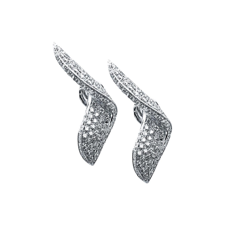 Diamond 1.60 Carat Stefan Hafner Stud Earrings