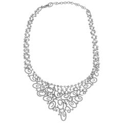 Stefan Hafner 18 Karat White Gold Diamond Necklace