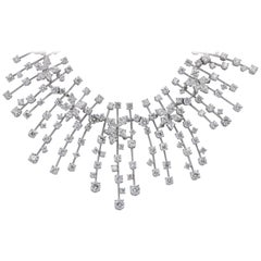 Stefan Hafner 27.00 Carat Cluster Diamond Necklace
