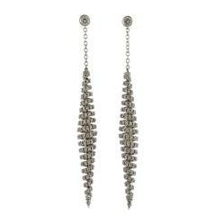 Stefan Hafner Diamond Gold Long Drop Earrings