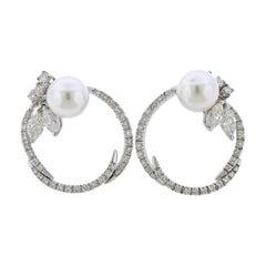 Stefan Hafner Diamond Pearl Gold Earrings