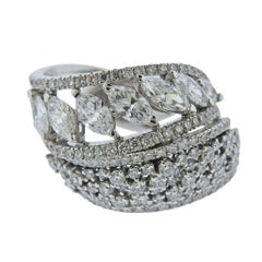 Stefan Hafner Gold 4.64 Carat Diamond Dome Ring