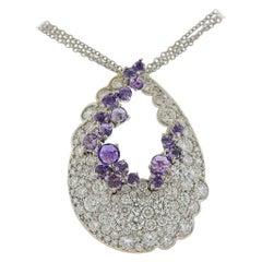 Stefan Hafner Gold Diamond Amethyst Necklace