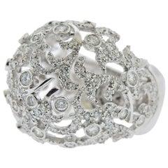 Stefan Hafner Gold Diamond Dome Ring
