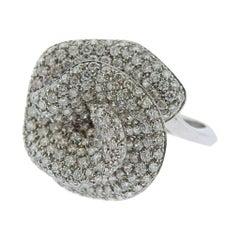 Stefan Hafner Gold Diamond Flower Cocktail Ring