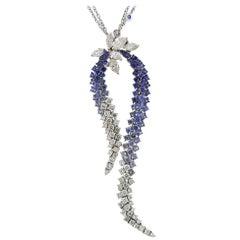 Stefan Hafner Gold Diamond Sapphire Necklace
