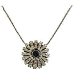 Stefan Hafner Gold Diamond Sapphire Pendant Necklace