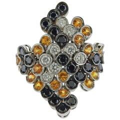 Stefan Hafner Gold Diamond Sapphire Ring