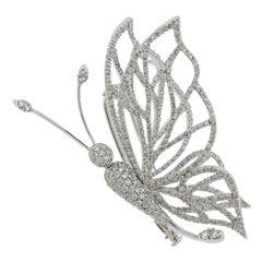 Stefan Hafner Gold Diamond Trembler Butterfly Brooch