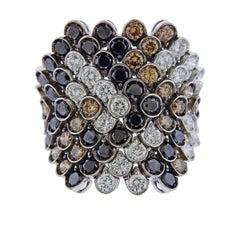 Stefan Hafner Multi-Color Diamond Gold Ring