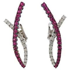 Stefan Hafner Ruby Diamond Gold Earrings
