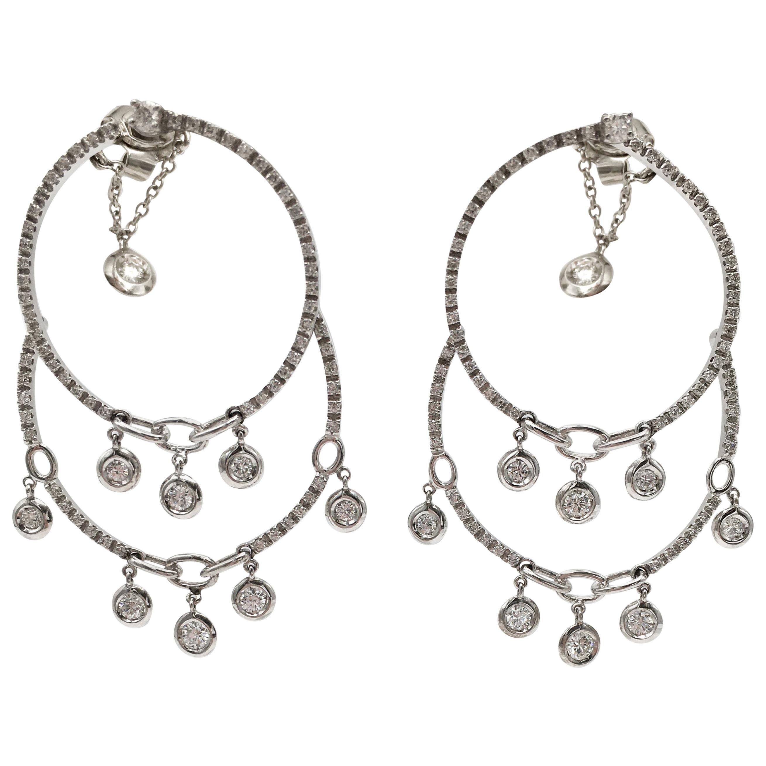 Stefan Hafner White Gold and Diamond Chandelier Earrings