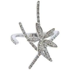 Stefan Hafner White Gold Diamond Flower Ring