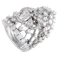 Stefan Hafner White Gold Full Diamond Tiara Ring
