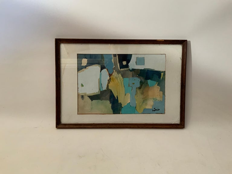 Watercolor on paper by Stefan Looks (1913-1994). Framed, glazed and matted. Signed, Lokos, lower right, circa 1950-1960. Lokos, originally from Hungary, was a prominent member of the Woodstock Art Association and the Silvermine Artists Guild. The