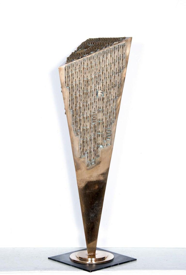 Stefan Matty Vladescu Abstract Sculpture - Pandora's Box, Bronze Sculpture, by Stefan Vladescu 1993