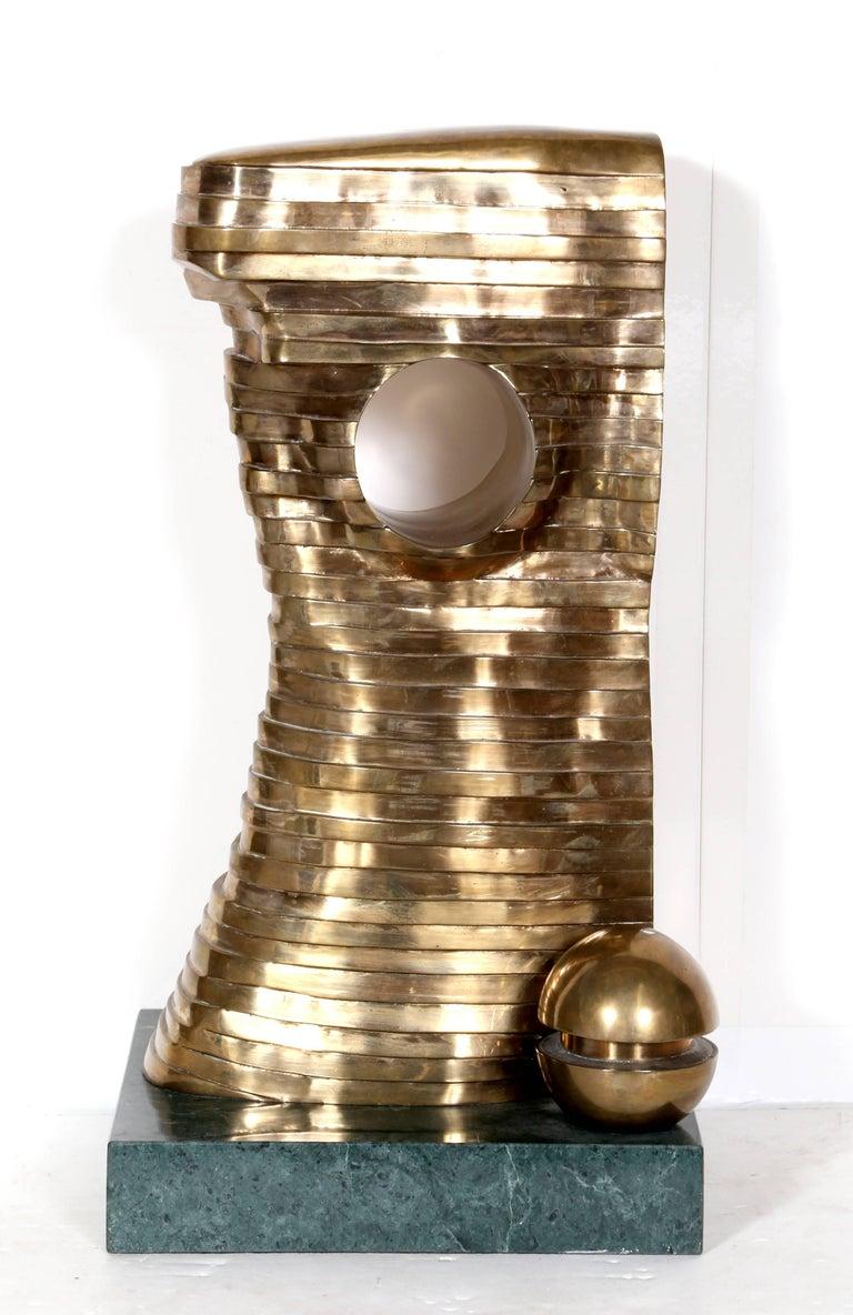 Teutonia, Bronze Sculpture, by Stefan Vladescu 1992 - Gold Figurative Sculpture by Stefan Matty Vladescu
