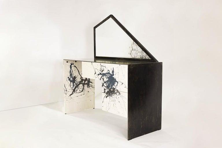 American Stefan Rurak, Trapezoid Mirror Desk / Vanity, USA For Sale