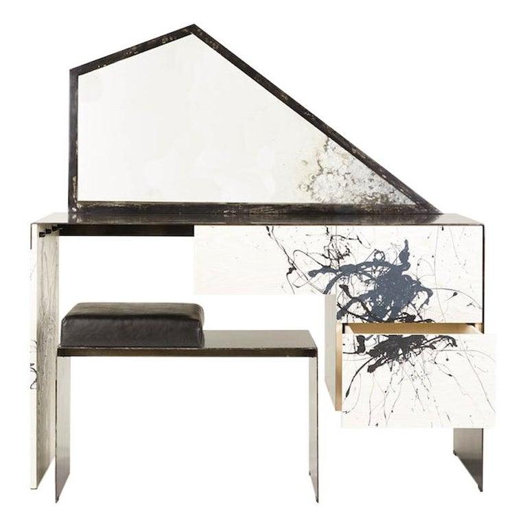 Stefan Rurak, Trapezoid Mirror Desk / Vanity, USA For Sale