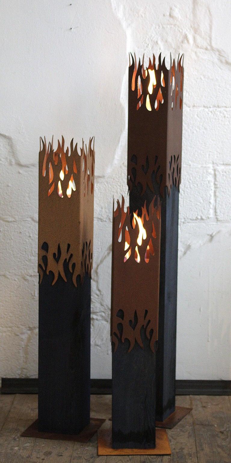 Dark Oak Column and Garden Torch -
