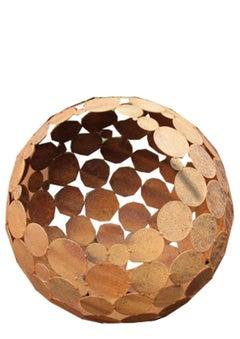"Decoration Sculpture - ""Globe"" - Iron Oxide"