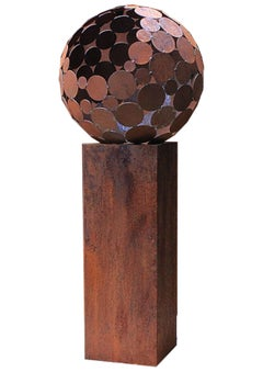 "Firepit ""Globe"" With Pedestal - Tall"