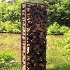 "German Steel - ""Firewood Rack"" - outdoor ornament"