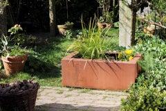 "German Steel Planter - ""Rectangular"" - outdoor ornament - large"